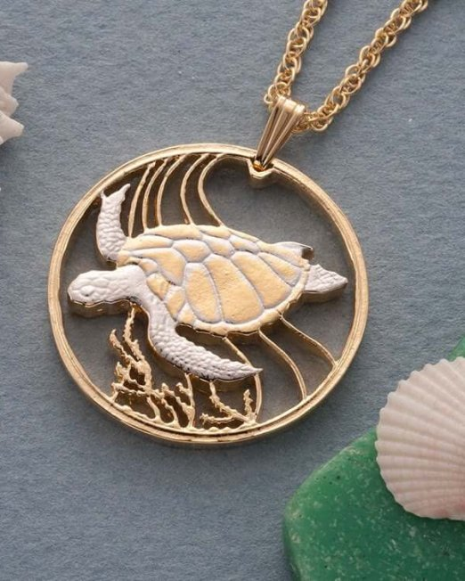 sea-turtle-pendant-and-necklace-jewelry-bermuda-one-dollar-coin-hand-cut-14-karat-gold-and-rhodium-plated-1-1-4-in-diameter-37-5f2850b2