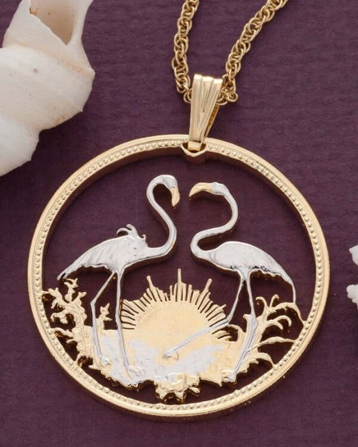 flamingo-pendent-and-necklace-bahamas-coin-jewelry-ethnic-jewelry-hand-cut-coins-coin-jewelry-tropical-jewelry-bird-jewelry-14-5f28555b