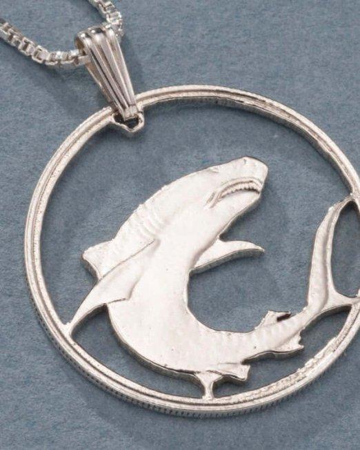 sterling-silver-great-white-shark-pendant-hand-cut-soloman-islands-100-dollar-great-white-shark-coin1-in-diameter-671s-5f296364